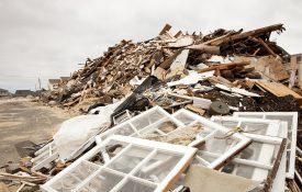 Hurricane destruction at the New Jersey Shore after Super Storm Sandy.