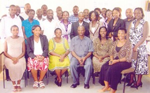This is a photo of Peter Baguma and colleagues in Uganda.