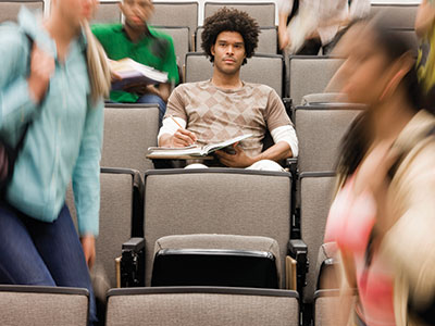 This is a photo of students in a lecture hall.