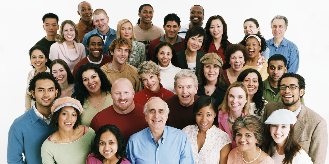 diverse smiling minority views