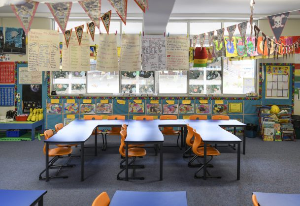 Classroom Redesign ~ Heavily decorated classrooms disrupt attention and