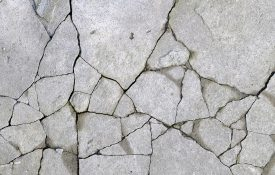 Old cracked concrete surface.