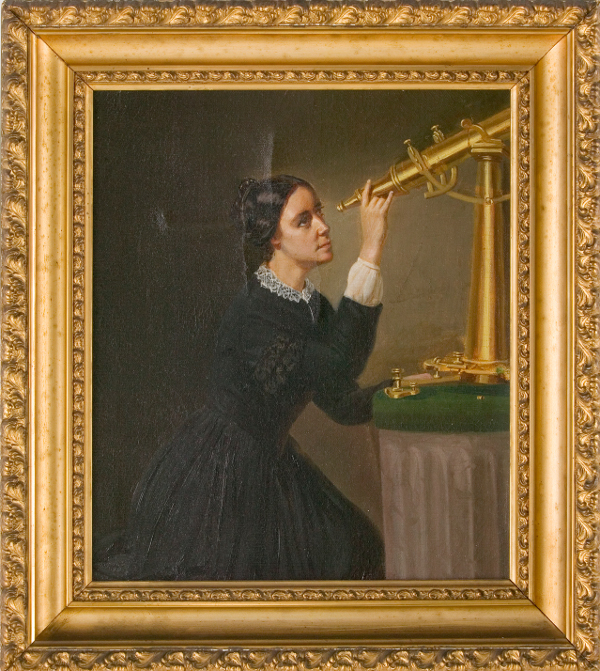 Portrait of Maria Mitchell by Herminia B. Dassel, ca. 1851, Painting, Courtesy of the Nantucket Maria Mitchell Association