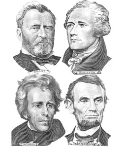 This is an image of four US presidents.