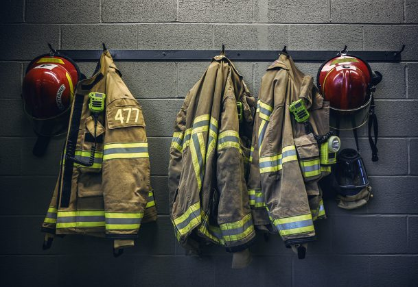 This is a photo of firefighter gear