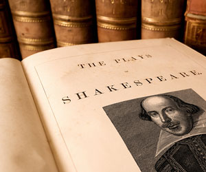 This is a photo of the works of Shakespeare.