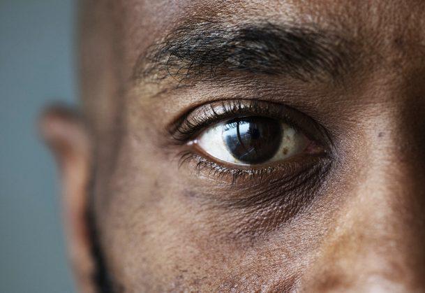 Closeup of a man's eye