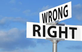 Wrong Versus Right Street Sign