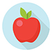 This image is an illustration of an apple.