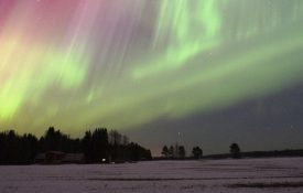 This is a picture of the arora borealis