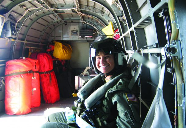 "As ""winged"" scientists in the Navy, Aerospace Experimental Psychologists must obtain 4 hours of flight time per month. Lieutenant Commander Tatana Olson gets some flight time with the NAS Pensacola Search and Rescue detachment in the H-3 Sea King helicopter."