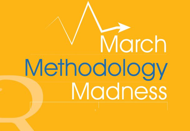 """This graphic says """"March Methodology Madness"""""""