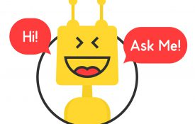 This is an illustration of a virtual assistant chatbot.