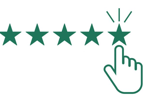 This is an illustration of someone giving a five-star rating.
