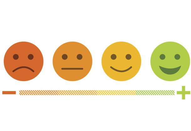 Emotions ranging from negative to positive