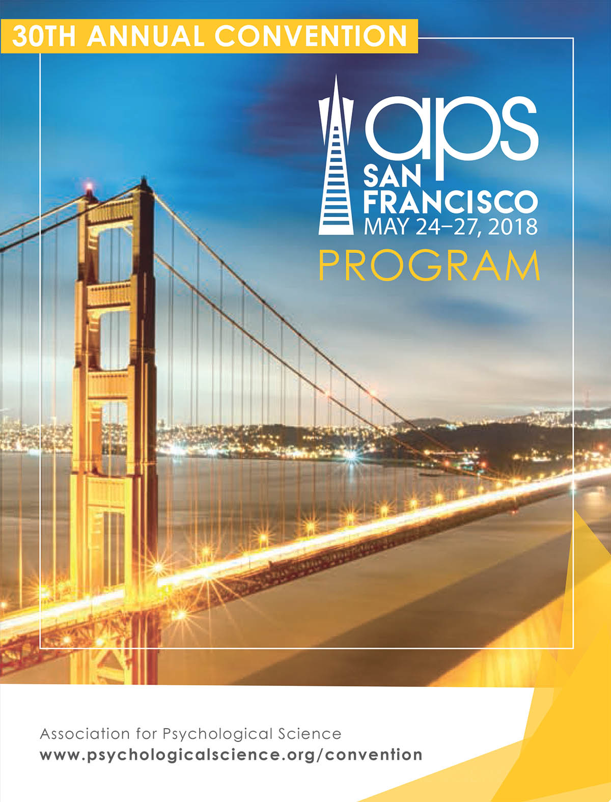 Cover of APS 2018 Convention Program