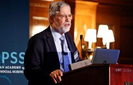 Holdren Gives AAPSS 2018 Moynihan Lecture