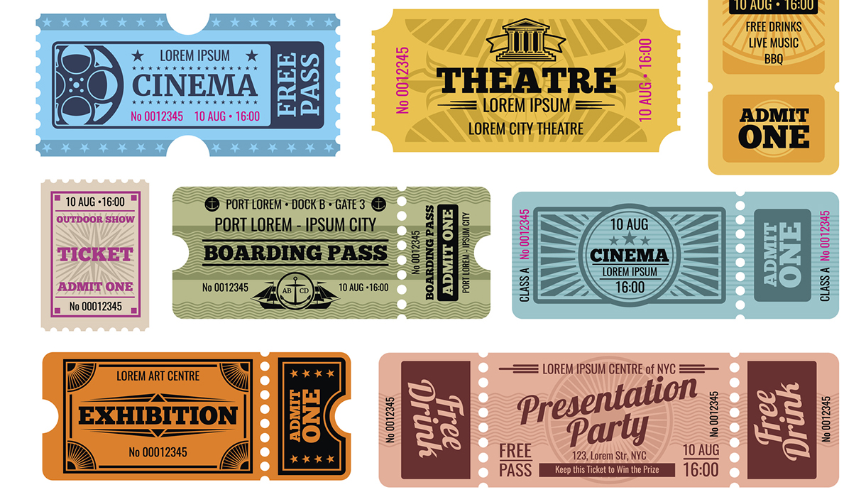 This is a photo of different kinds of tickets