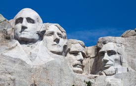 Presidents in Mt. Rushmore