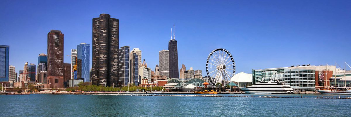Chicago Skyline, backdrop for the 32nd APS Annual Convention in 2020