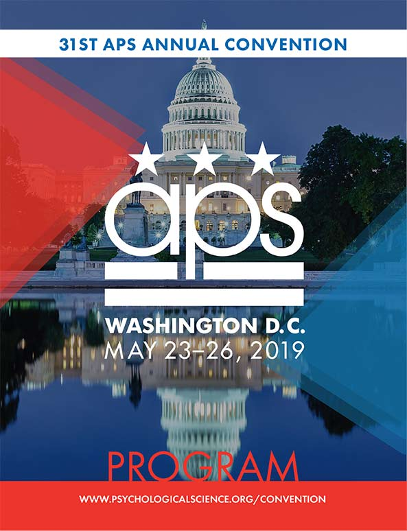 2019 APS Convention Program Cover Image - Washington DC with APS logo