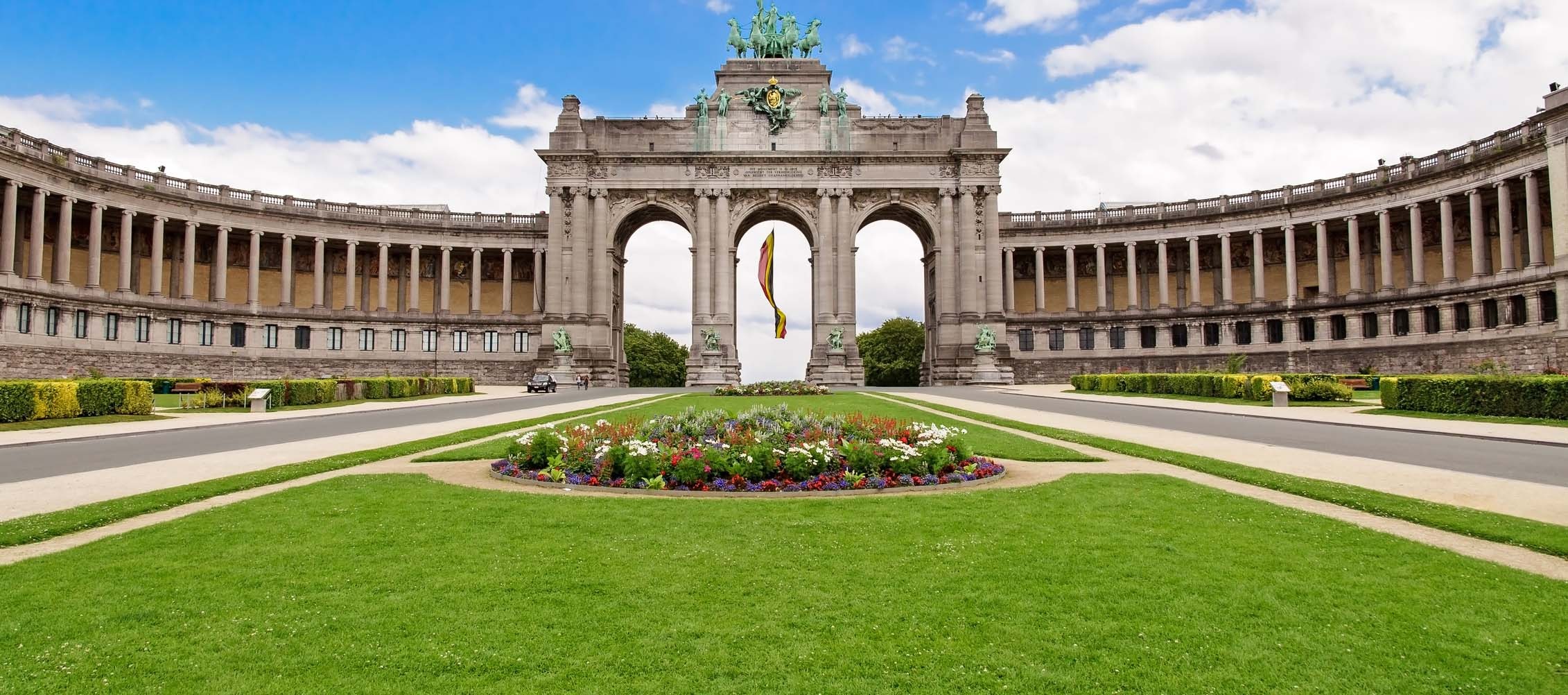 The Triumphal Arch in Cinquantenaire Parc in Brussels, Belgium, where ICPS 2021 will be held