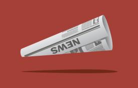 Newspaper megaphone
