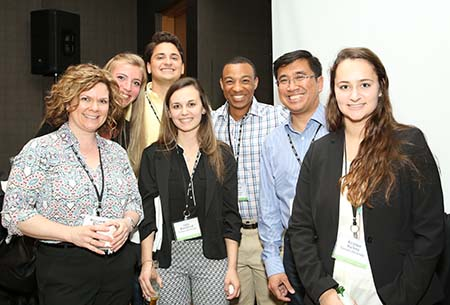 Group of smiling attendees at APS Annual Convention, APS 2020