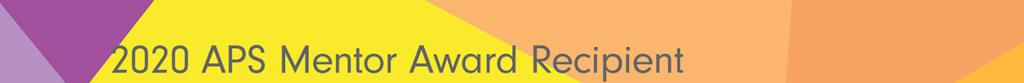2020 APS Mentor Award Header Graphic