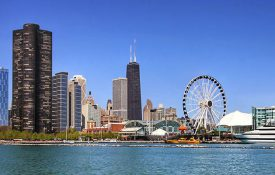 Chicago skyline image.
