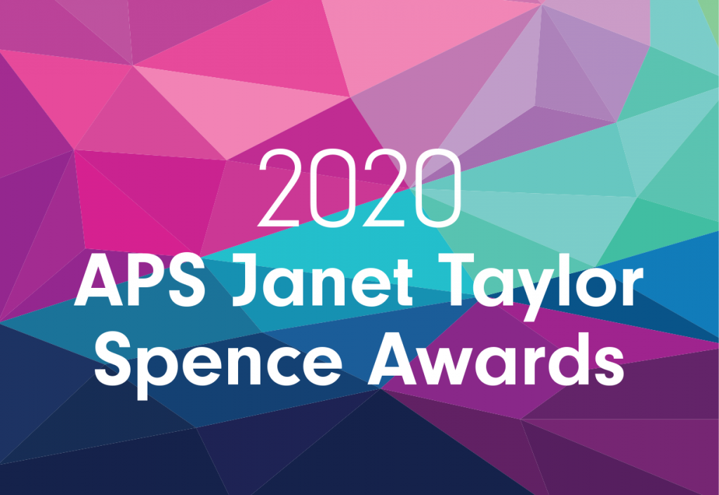 APS 2020 Janet Taylor Spence Awards