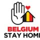 Belgium Stay Home Graphic