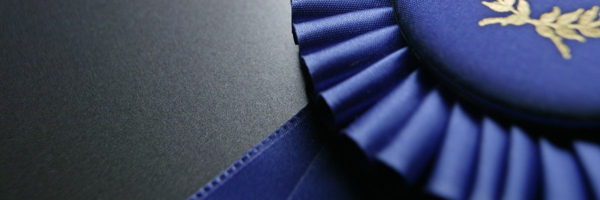 This is a picture of a blue ribbon.